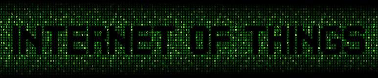 Internet von Sachen simsen auf Hexenillustration lizenzfreie stockfotos