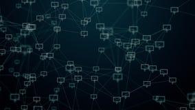 Internet von Sachen, von Wolkentechnologie und von Datenverarbeitung lizenzfreie abbildung