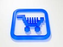 internet wózka na zakupy Zdjęcia Stock