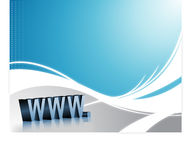 Internet Wave Background Stock Photo