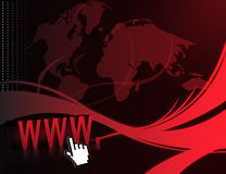 Internet Wave Background Stock Photography