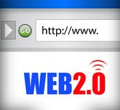 Internet web 2.0 browser Royalty Free Stock Photos