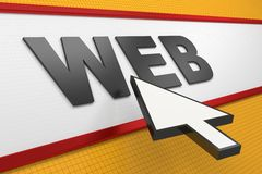 Internet Web Browser Royalty Free Stock Photo