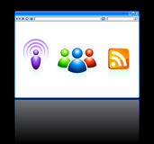 Internet Web Browser with Tools Royalty Free Stock Image