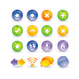 Internet and web buttons. Illustration of internet and web buttons Stock Photo