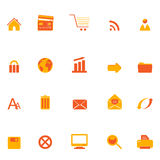 Internet, web and e-commerce icons Royalty Free Stock Image