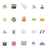 Internet, web and e-commerce icons Royalty Free Stock Photography