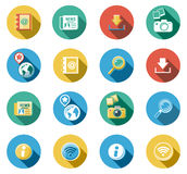 Internet and Web Flat Icons Set. Internet and Web concepts flat icons set Royalty Free Stock Photo
