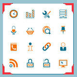 Internet and web   In a frame series Royalty Free Stock Photography