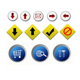 Internet web icon Stock Photo
