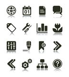 Internet & Web Icon. Internet Web icons with reflections. Black & white series PART 2 Stock Images