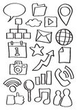 Internet Web Icon Doodles Vector Illustration Royalty Free Stock Photos