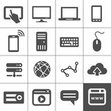 Internet and Web icon set Stock Photo