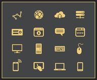 Internet and Web icon set Royalty Free Stock Image