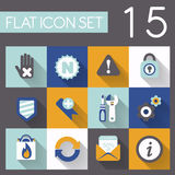 Internet and web icon set. In flat design Royalty Free Stock Photo