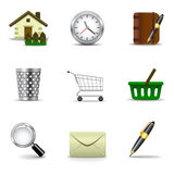 Internet and web icons Stock Photos