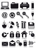 Internet web icons. Illustration isolated on white background Royalty Free Stock Photo