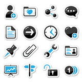 Internet, web icons as labels Royalty Free Stock Photography