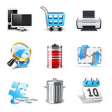 Internet and web icons   Bella series Royalty Free Stock Photos