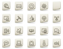 Internet web icons, document series Royalty Free Stock Photos