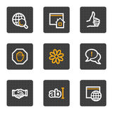 Internet web icons, grey buttons series Royalty Free Stock Image