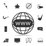 Internet web iconSet of Human weakness and Addiction element icon. Premium quality graphic design. Signs, outline symbols collecti. On icon for websites, web Royalty Free Stock Photo