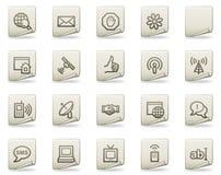 Internet-Web-Ikonen, Dokumentenserie Lizenzfreie Stockfotos