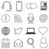 Internet web line icons set Stock Image