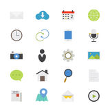 Internet Web and Mobile Flat Icons color Royalty Free Stock Images