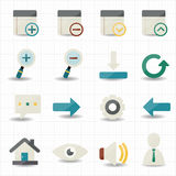 Internet web and mobile icons. This image is a vector illustration Stock Images