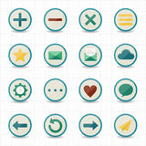 Internet web mobile icons with white background. This image is a vector illustration Royalty Free Stock Photo