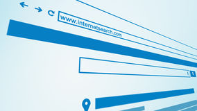 Internet Web Search Engine Close Up 3D Perspective Stock Images
