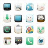 Internet web and setting icons white background Stock Photo