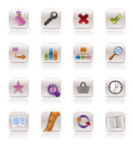 Internet and Web Site Icons. Vector Icon Set Royalty Free Stock Photo