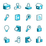 Internet and Web Site Icons Stock Photography