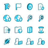 Internet and Web Site Icons. Blue website and internet vector icons stock illustration