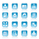 Internet and Web Site Icons Stock Image