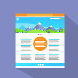 Internet Web Site Page Flat Icon Vector Royalty Free Stock Photo