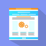 Internet Web Site Page Flat Icon Vector Royalty Free Stock Images