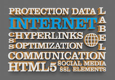 Internet web words. As concept Royalty Free Stock Image