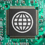 Internet web world concept Stock Photos