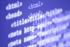 Internet webbsida, html-etiketter Arkivfoton