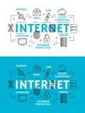 Internet-Webelementen en apparaten vector illustratie
