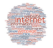 Internet webpage tag cloud Stock Photo