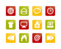 Internet and Website buttons. 12 internet and website buttons / symbols / icons Stock Photography