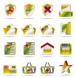 Internet and Website buttons and icons vector illustration
