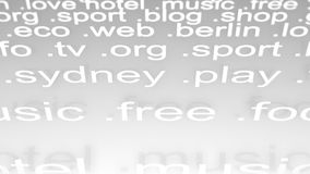 Internet website domains. stock video footage