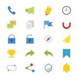 Internet and Website Flat Icons color Royalty Free Stock Photo
