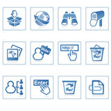 Internet and website icon II. A set of web icons with light reflections Royalty Free Stock Photo