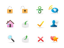 Internet & Website icons Stock Photography